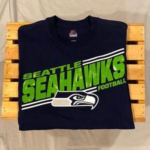 Seattle Seahawks NFL Majestic Tee Shirt Size Small
